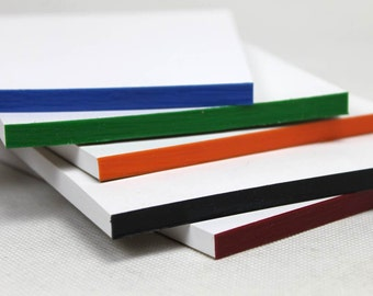 Scratch Pads w/ Coloured Padding Compound | Thick or Regular Notepads