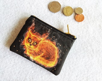 Cat purse! Fire cat purse! Coin purse! Cat coin purse!