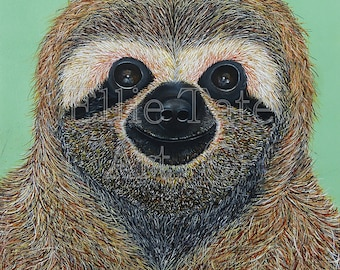 A4 Limited Edition Print - Pygmy Three-Toed Sloth