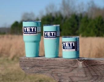 Custom Colored YETI Rambler 30 oz Powder Coated - Sea Foam Green
