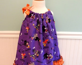 Halloween Dress - Mouse Halloween Dress -Halloween Minnie Dress  -Halloween -Halloween Girls Dress  -Halloween Toddler Dress