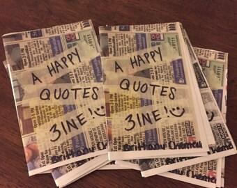 Happy Quotes Zine - mini size