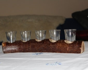 Shot glass holder with glasses