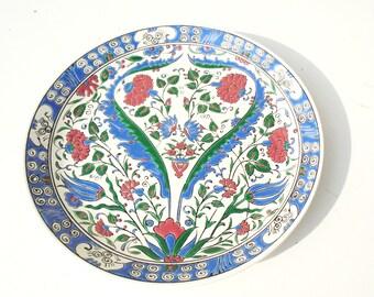 Greece Wall Plate, Acapulco Wall Plate, Hellas Wall Plate, Hand Made Greece Plate, Colourful Wall Plate, Bird Motif Plate