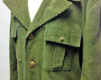 Vintage Green Corduroy Jacket