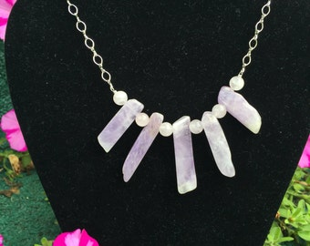 Amethyst with Rose Quartz Necklace