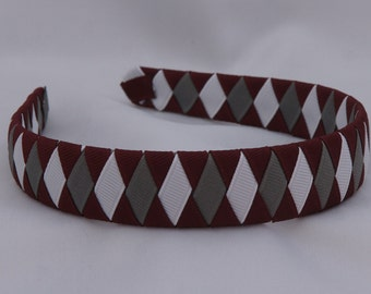 Maroon School Uniform Woven Headband