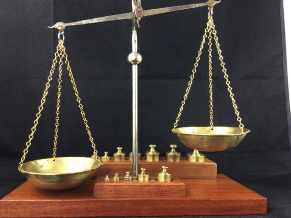 Balance Scale Vintage Scale Brass Weights Brass Scale