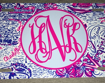 Lilly pulitzer car tag Virginia car tag monogrammed License plate personalized car tag initials