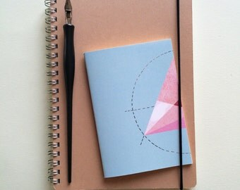 Blue Geometric Notebook