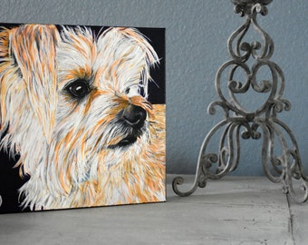 Pet portrait custom from photo by Audrey D, Original oil painting on canvas One of a kind for dog, Cat people, Art for home office lobby vet