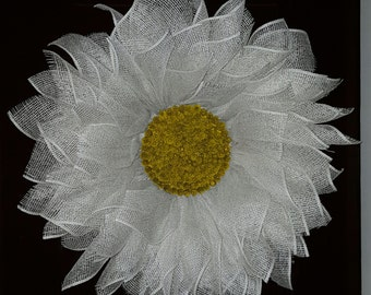 White Daisy Wreath, White Wreath, Daisy Wreath, Spring Wreath, Summer Wreath, Gift Wreath, Front Door Wreath, Mother's Day Wreath