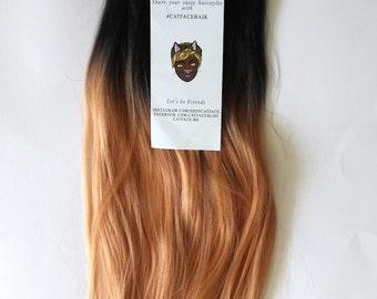 Catface Hair Black Peach Ombre Braiding Hair