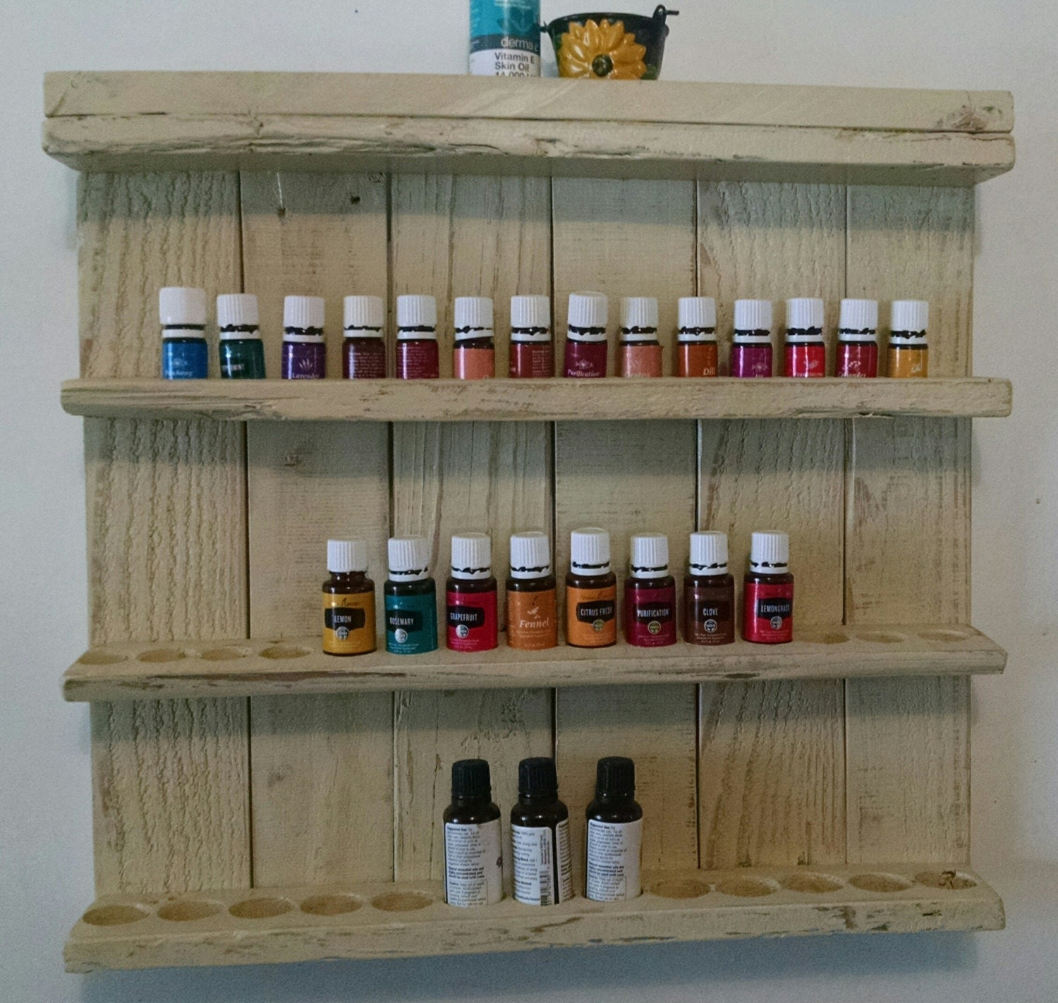 Essential Oil Shelf Wooden Essential Oil Display Shelf