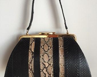 1960s snakeskin handbag