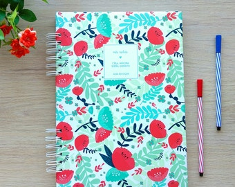 Book A4 and A5, flowers and binding hard cover, notebook