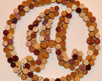 Initial / Monogram Cork Wreath - Curly Font