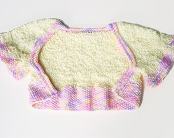 Toddler Girl's Creamy Yellow Shrug Sweater with Ruffled Trim Size 24 Months