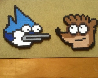 Mordecai and Rigby - Perler