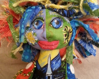 OOAK handmade cloth art doll