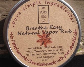 Breathe Easy Natural Vapor Rub 2 oz.