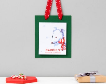 Paper Advent Calendar | Christmas Countdown | Children's Advent | Christmas Calendar | Personalised Christmas Countdown | Advent Calendar