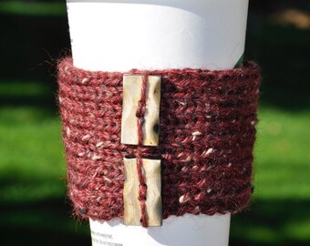 Knitted Tweed Coffee Cup Sleeves