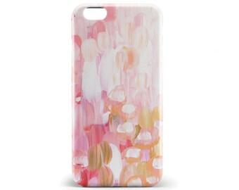 1335 // Pink Orange White Paint Phone Case iPhone 5/5S, 6, 6+, 6S, 6S+ Samsung Galaxy S5, S6 S7 Edge