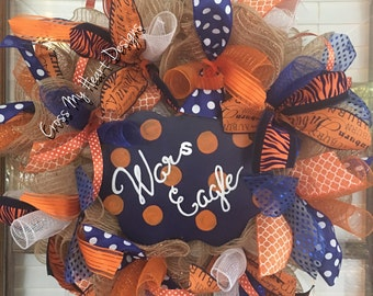 Auburn Football Wreath