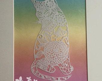 Decorative Cat Hand Cut Paper cut
