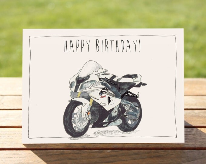 "Motorcycle Birthday Card - BMW S1000RR  | A6 - 6"" x 4"" / 103mm x 147mm 