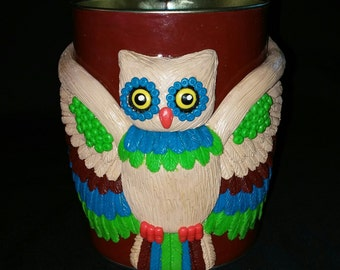 Wingspread Owl Polymer Clay Tin Mug