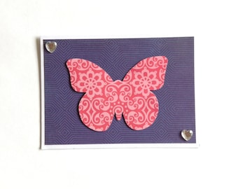 Butterfly card, birthday card, any occasion,  blank card, gift card with envelope