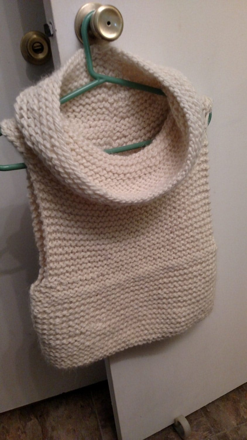 Chunky Knit Vest with Cowl Knitting Pattern