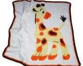 Baby Giraffe Infant Blanket, Baby Nap Blanket, Crochet Blanket, Crochet Baby Blanket, Security Blanket, Baby Shower gift, Giraffe Afghan