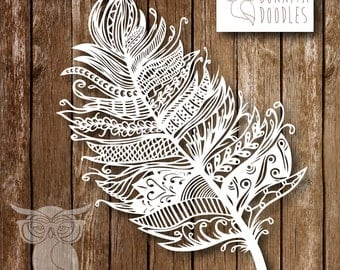 Zentangle Feather Template Personal