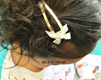 MINTY bow hair clip
