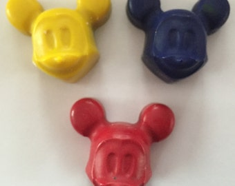 Mickey Party Favor Crayons * Set of 8 favors * Perfect for Party Favors * Stocking Stuffers * Small Gifts
