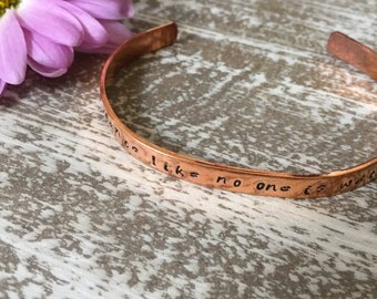 Hand Stamped Custom Bracelet Cuff Dance Like No One is Watching