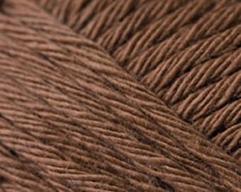 Cotton yarn nougat light brown colour creative cotton aran crochet yarn Rico Design 50g 85m (92 yards) for needle size 4-5EU (US6-8) code 56