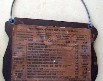 1960's Northwoods Inn menu, Denver, Colorado