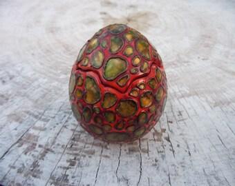 Dragon Egg jewelry box, ceramic egg jewelry box, Ceramic Dragon Egg, trinket storage, geek gift, fantasy decoration, (free shipping)