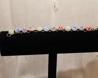 "Bracelet - Fused Glass ""Beads"""