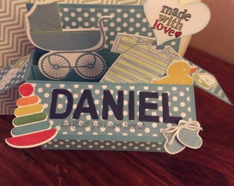 Pop up baby card