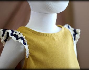 Yellow Dress for girls, Crochet dress, Summer dress, yellow toddlers dress, yellow baby dress, Yellow summer outfit