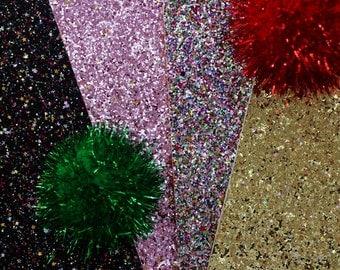 Glitter Felt Fabric- Twinkle Twinkle Little Stars- 20×20cm- Polyester Felt Fieltro feltro DIY Craft Sewing Fabric