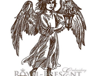 Machine Embroidery Designs - Angel with lantern