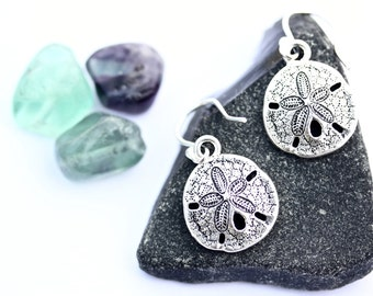Sand dollars, beachy jewellery, Australia gift, shell earrings, travel gift, gold shell earrings, silver shell earrings, Kerrieberrie