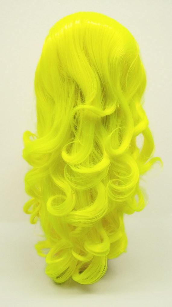 Yellow Beehive Wig 34
