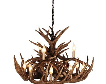 Large 2 Tier Antler Chandelier